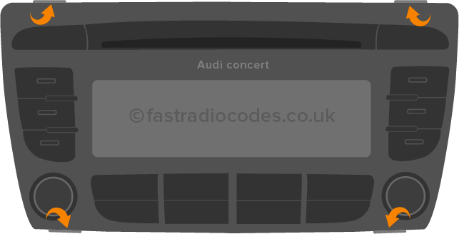 Audi Concert Radio Code | Fastradiocodes.co.uk