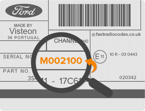 Ford M Serial Code