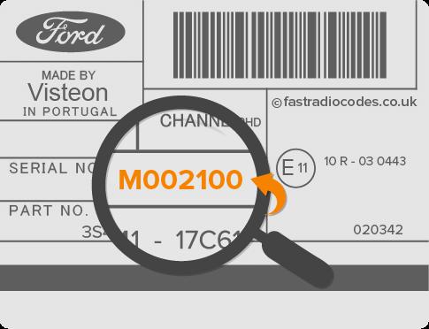 m serial ford radio code