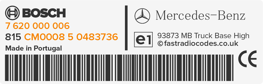 locate mercedes radio code serial number