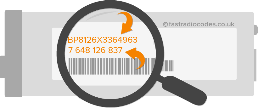 locate renault blaupunkt serial number