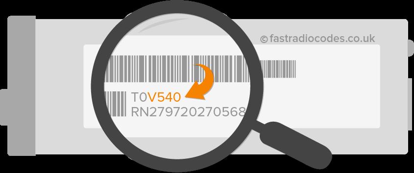 renault radio code security number