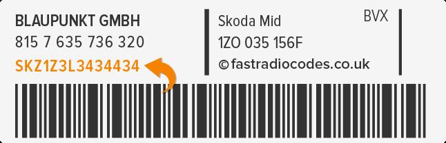 Skoda Radio Code Serial Number